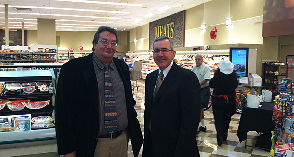 Executive Director Jimbo Richards w/ Geissler's president Jim Nilsson