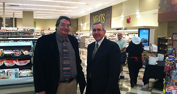 Executive Director Jimbo Richards w/ Geissler's president Jim Nilsson