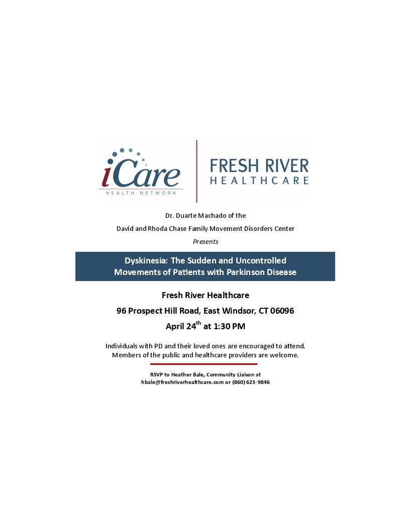 Dr. Machado's knowledge on Dyskinesia program . @ Freshriver Healthcare