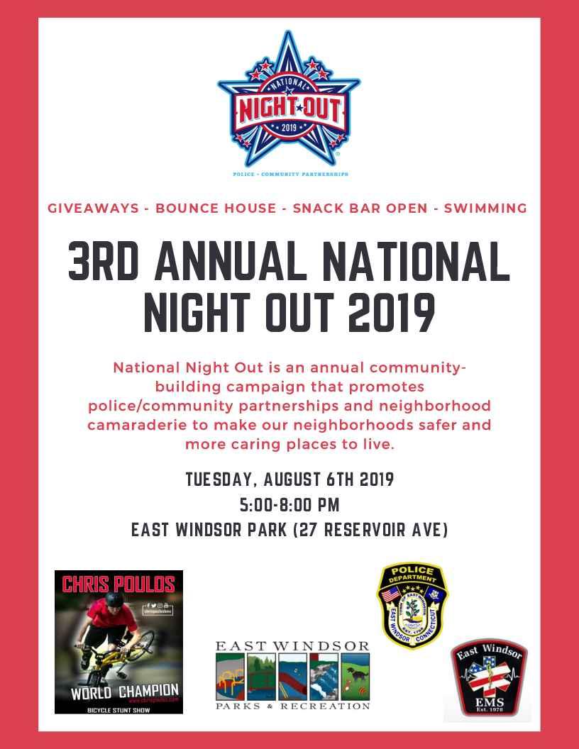 National Night Out 2019(East Windsor CT) | East Windsor