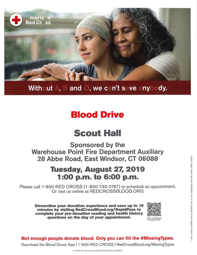 Blood Drive @ Scout Hall & Youth Center