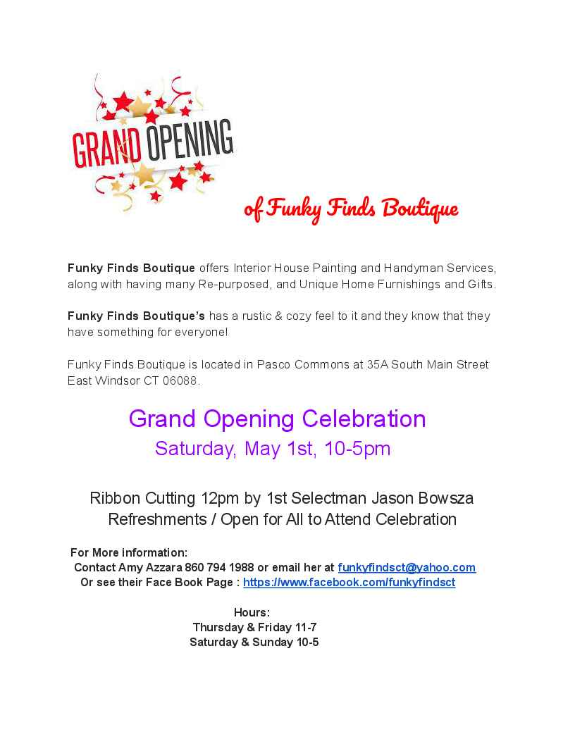 Grand Opening Celebration of Funky Finds Boutique @ Funky Finds Boutique