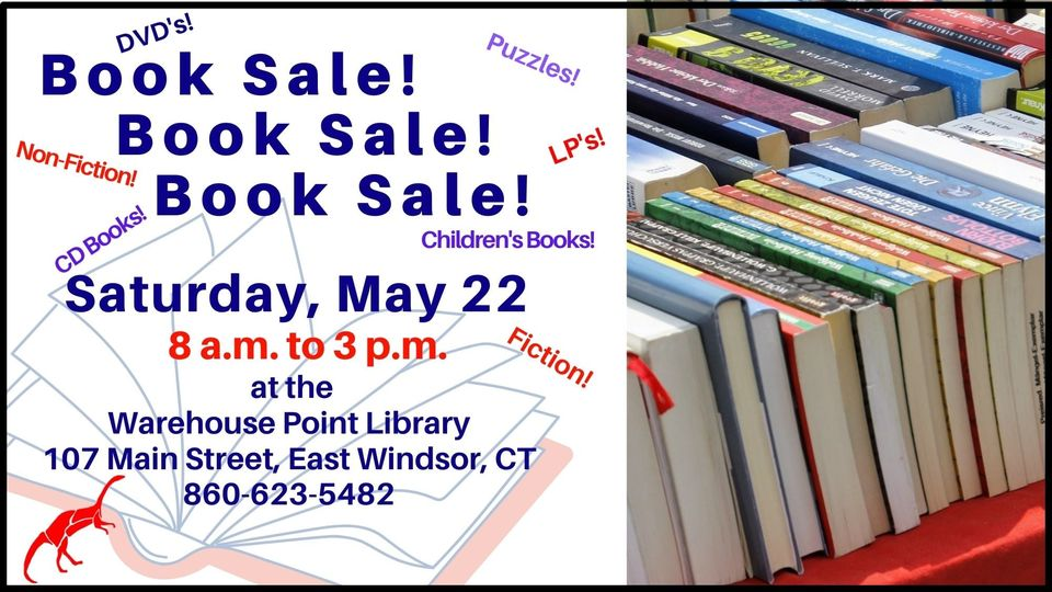 Giant BOOK Sale (DVD,LPS,Puzzles,Audio Books) @ Warehouse Point Library