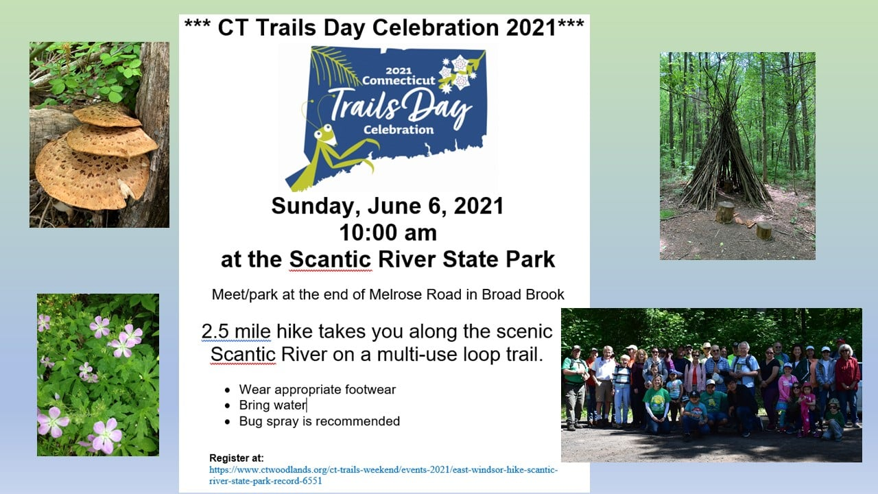 CT Trails Day Celebration at The Scantic @ Scantic River State park